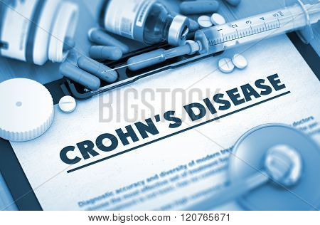 Crohn's Disease. Medical Concept.