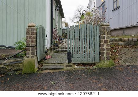 One Old Gate Between The Old House