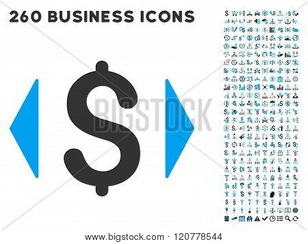 Regulate Price Icon with Flat Vector Set
