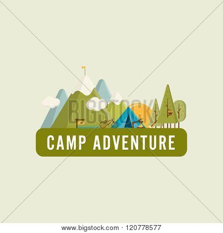 Camping concept landscape