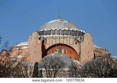 Hagia Sophia Museum In Istanbul City, Turkey