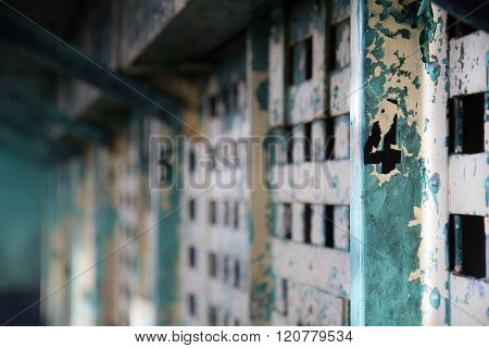 Cell 4 in an old prison. shallow depth of field