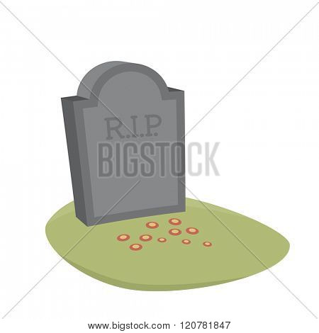 gravestone cartoon vector isolated