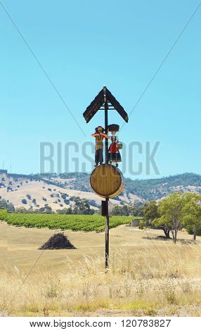 Iconic Barossa Valley Sign Post.