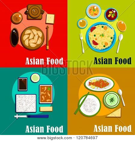 Indian, chinese, thai and korean cuisine
