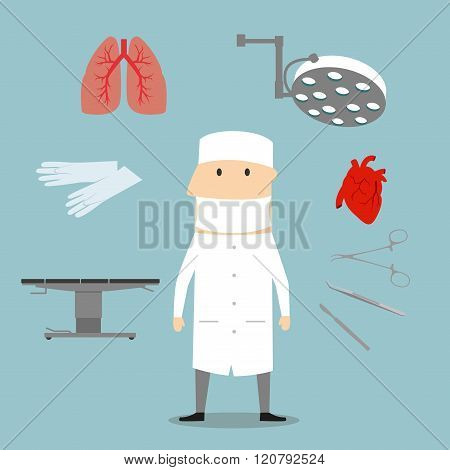 Surgeon profession and medical objects