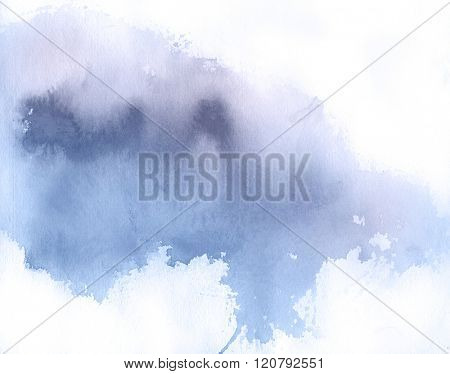 Lilac spot, watercolor abstract hand painted background. Serenity Tint Watercolour Texture Gradient. Pastel Colored Palette.