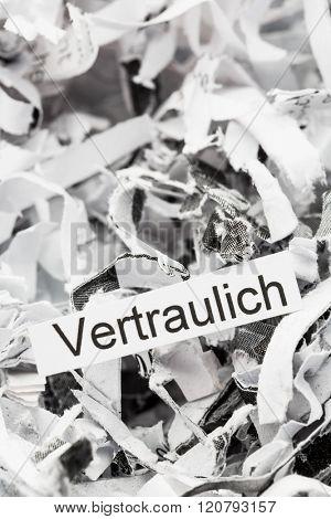 shredded paper keywords confidential