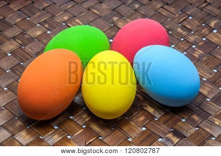 Group Of Colorful Easter Egg