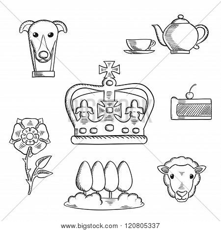 England traditional objects and symbols