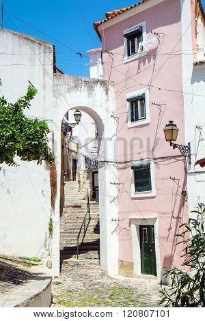 The Alfama quarter in Lisbon
