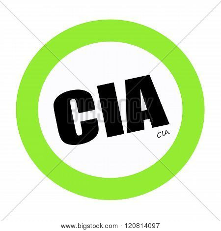 an images of CIA black stamp text on green
