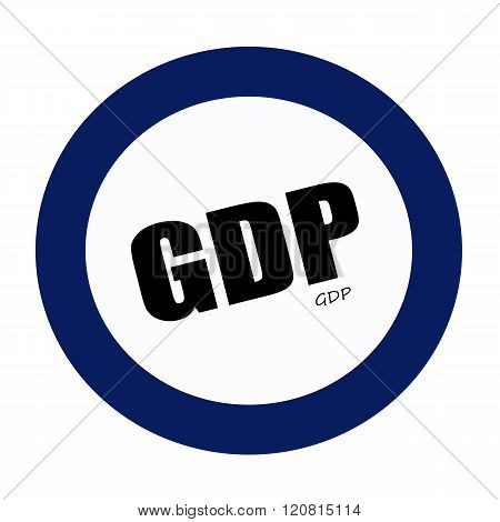 an images of GDP black stamp text on white