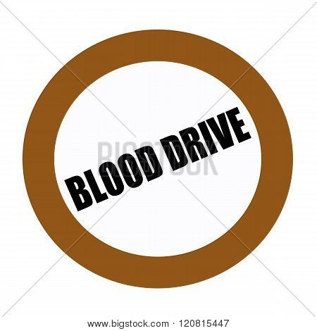 BLOOD DRIVE black stamp text on white