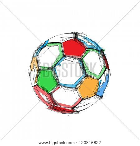 Grunge soccer ball easy all editable