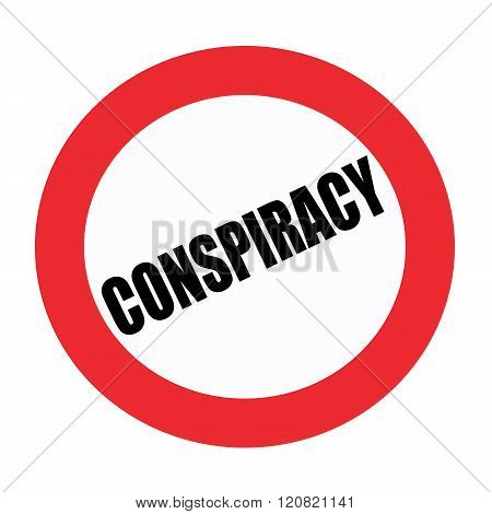 an images of Conspiracy black stamp text on white