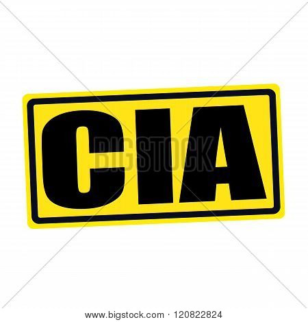 an images of Cia black stamp text on yellow