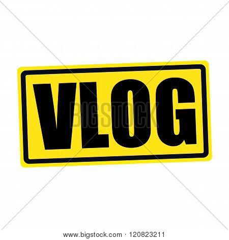 an images of Vlog black stamp text on yellow