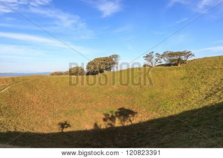 The Mount Eden With Nature Scenic Background.