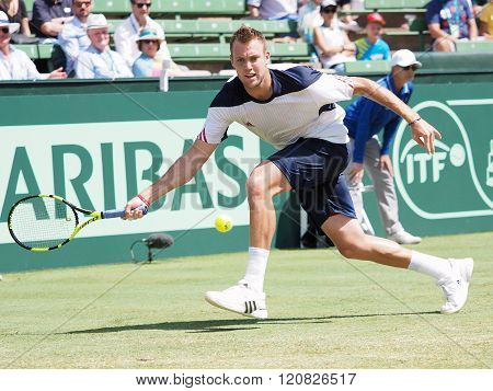 US Tennis Player Jack Sock During Davis Cup Singles Against Be