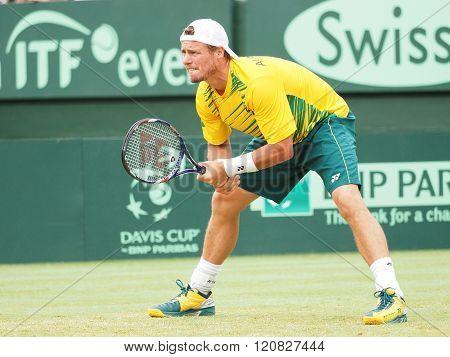 Australian Tennis Player Llayton Hewitt During Davis Cup Doubl