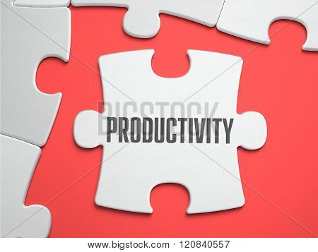 Productivity - Puzzle on the Place of Missing Pieces.
