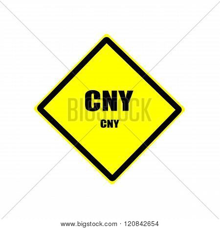 Cny Black Stamp Text On Yellow Background
