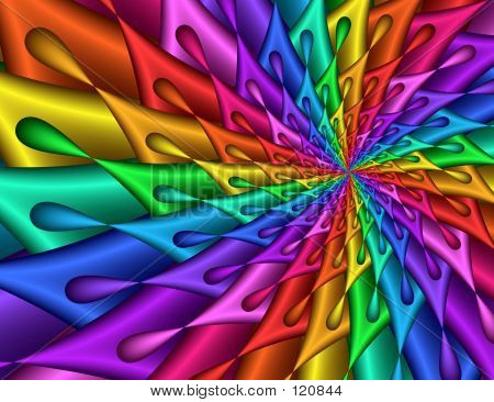Rainbow Splash Fractal