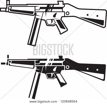 Army Weapon. Line Style.