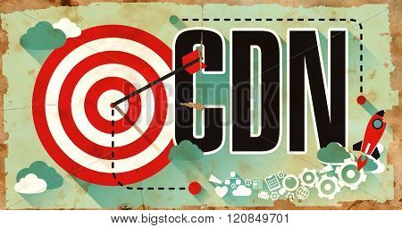 CDN on Poster in Grunge Design.