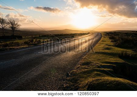 Dartmoor Dusk Road