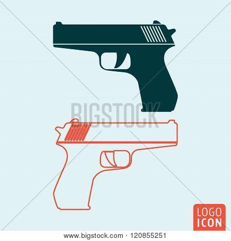 Gun Icon Isolated