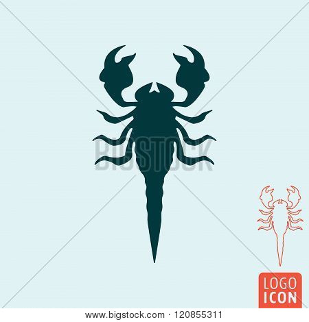 Scorpion Icon Isolated