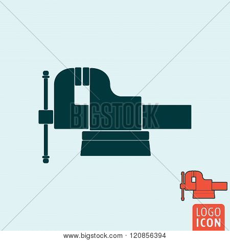 Vice icon. Vice logo. Vice symbol. Jaw vice icon isolated minimal design. Vector illustration poster