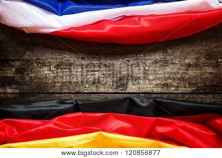 Germany And France Flag, Concept Coalition And Europe
