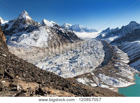 View Of Ngozumba Glacier