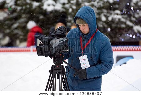 Camera Man At Work