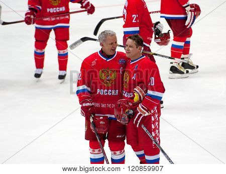 V. Fetisov (2) And P. Bure (10)
