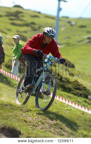 Downhill Racer In Red