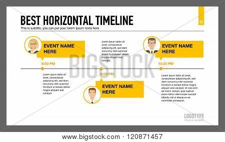 Horizontal Timeline Slide