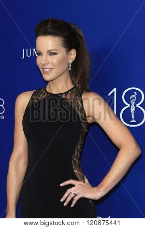 LOS ANGELES - FEB 23: Kate Beckinsale at the 18th Costume Designers Guild Awards at the Beverly Hilton Hotel on February 23, 2016 in Beverly Hills, California