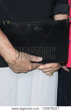 LOS ANGELES - FEB 23: Beryl Lacoste Hamilton, Lacoste bag at the 18th Costume Designers Guild Awards at the Beverly Hilton Hotel on February 23, 2016 in Beverly Hills, California