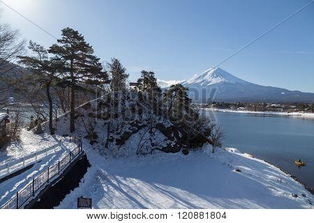 Mt.Fuji in winter, Japan