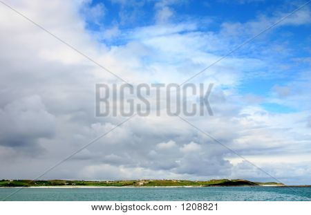 Cloudy Sky Over St. Martin'S, Isles Of Scilly.