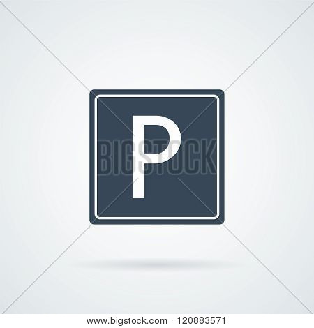 Parking Icon Vector.