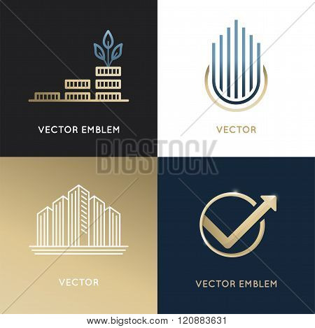 Vector Set Of Logo Design Templates And Emblems