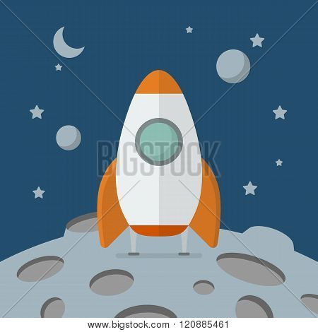 Rocket Landed On The Moon