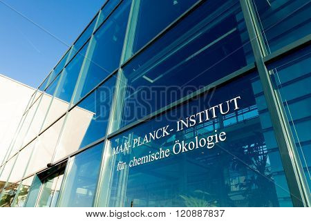 JENA, GERMANY - MAY, 08, 2011: Max Planck Institute for Chemical Ecology is located on Beutenberg Campus in Jena, Germany. Founded in March 1996 and is one of 80 institutes of the Max Planck Society