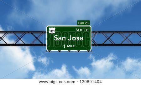 San Jose Usa Interstate Highway Sign