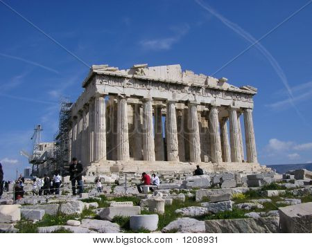 Parthenon, Acropolis, Temple Of Athena, Athens,  Greece